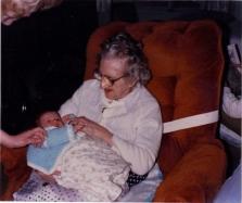 Grandma K holding Baby Jay
