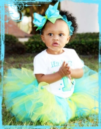 Beautiful-baby-girls-teal&lime-birthday-Tutu-outfit