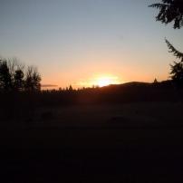 sunrise above hill