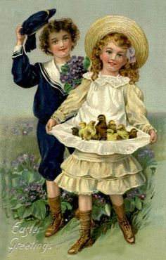 Vintage Easter Couple