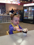 """Yummy...hot fudge with ice cream too!"""