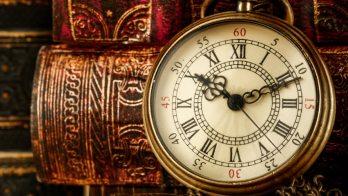 writing book clock