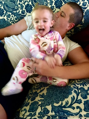 Livvie Smies with Daddy